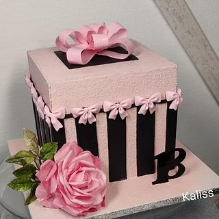 Bday box - Cake by Kaliss