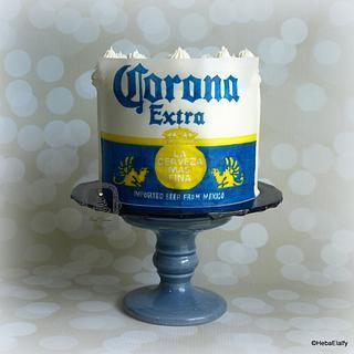 Nicholas' Corona Extra Beer birthday cake