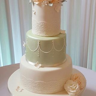 Sage & Lace - Cake by TiersandTiaras