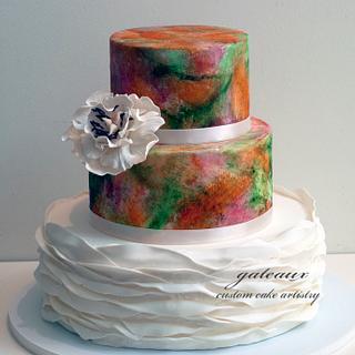 Ruffled Modern Cake - Cake by Yvonne Janowski