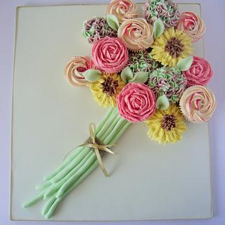Buttercream flowers bouquet
