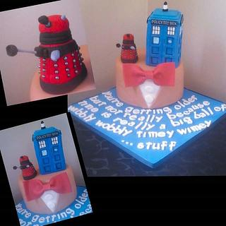 Dr Who themed cake