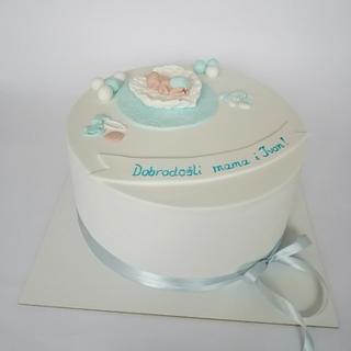 Willcome baby boy - Cake by Tortebymirjana