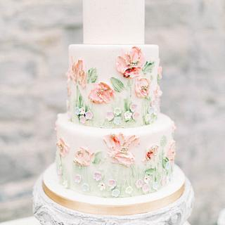Romantic pastel floral wedding cake - Sweet Avenue Cakery
