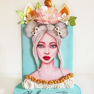 Lady Unicorn Cake