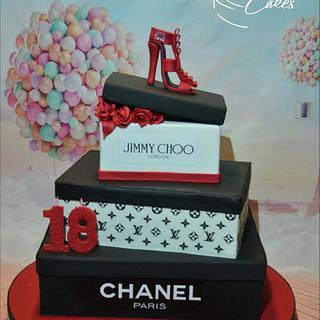 Fashion shoes cake