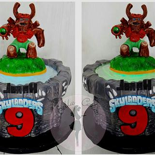 Skylanders Tree Rex Cake with Remote LED light