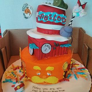 Dr.Suess Birthday Cake