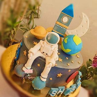 Space theme cake