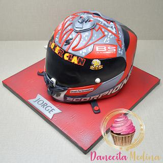 TARTA CASCO DE MOTO SCORPION - Cake by Danecita Medina