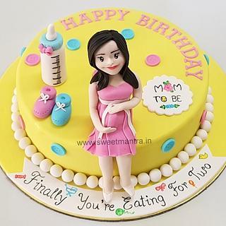 Marvelous Mom To Be Birthday Cake 4 Cakes Cakesdecor Birthday Cards Printable Opercafe Filternl