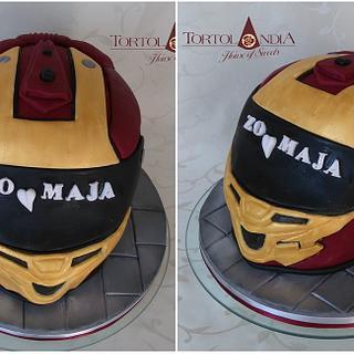 Iron man helmet - Cake by Tortolandia