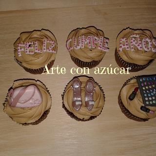 Make up cupcakes - Cake by gabyarteconazucar