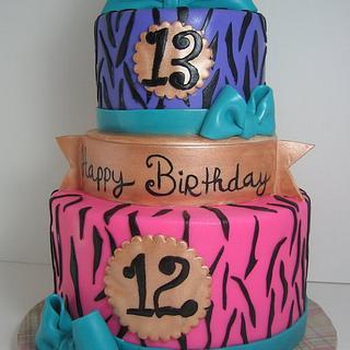 pretty zebra cake