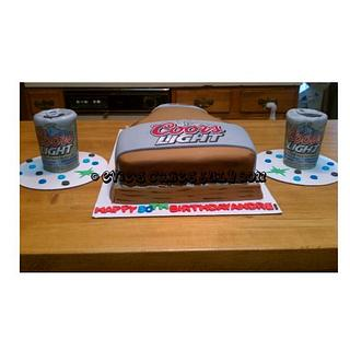 Coors Light Cake for a 50th Bday