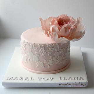 Pink Bridal Shower cake