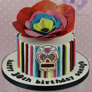 Frida Kahlo/Day of the Dead cake