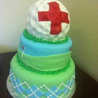 Golf cake - Cake by Sarah F