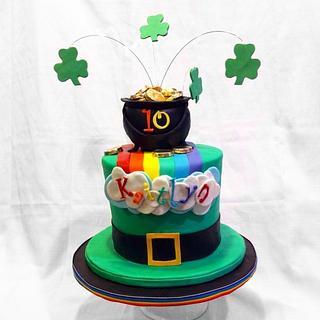 St Patrick Leprechaun Hat birthday cake