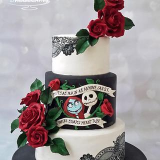 Gothic and Elegant Wedding Cake