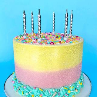 Ombré Pastel Buttercream Cake