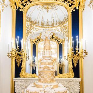 20 Tier Royal Wedding Cake at the Palais Liechtenstein - Cake by Elizabeth's Cake Emporium
