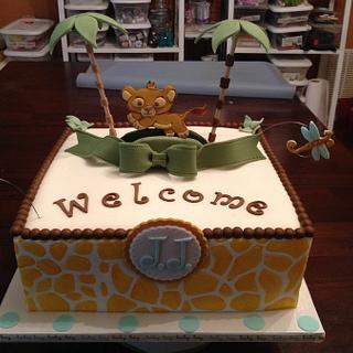 Lion King (Simba) Baby Shower cake