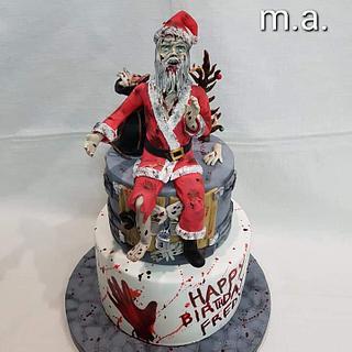 Zombie Santa cake