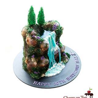 Waterfall cake 🧚♀️🎂💜💙💚