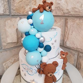 1.bday teddy bear cake