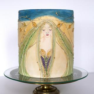 An homage to Margaret - Art Nouveau Meets the Cake Artists: A Cake Collective Collaboration