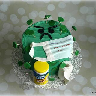 Zoe's corona virus birthday cake