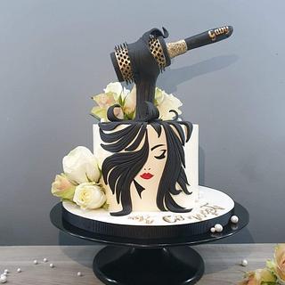 Hairdresser cake - Cake by Radoslava Kirilova (Radiki's Cakes)