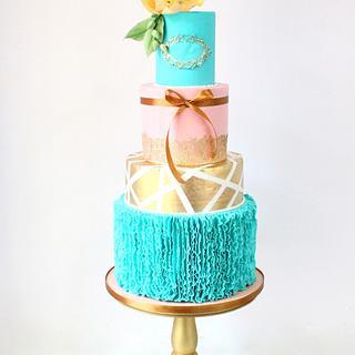 The Aqua Ocean Wedding Cake