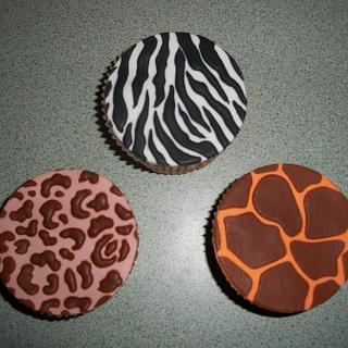 Jungle Animal Print Cupcakes
