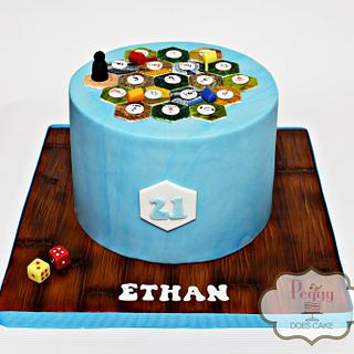 The Settlers of Catan Birthday Cake