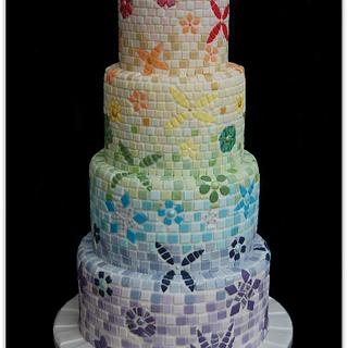 Mosaic Wedding Cake - Gold Winner Cake International