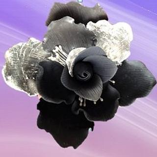 Fantasy flower with silver leaf