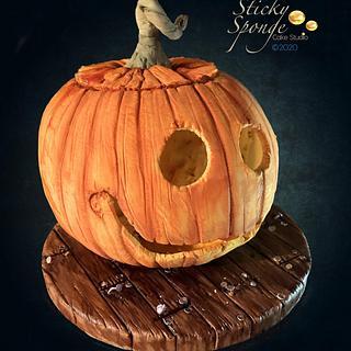 Pumpkin Cake - Cake by Sticky Sponge Cake Studio