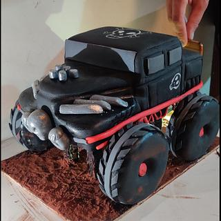 Monster truck cake - Cake by Tandeep