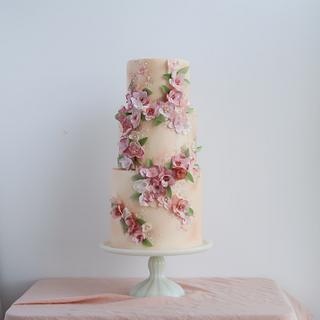 WAFER PAPER Floral Appliques - Cake by Anna Astashkina
