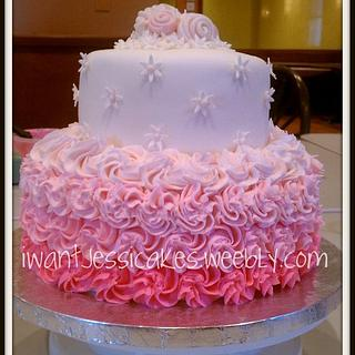 Pink ombre cake - Cake by Jessica Chase Avila