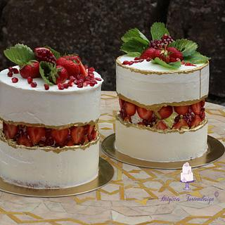 strawberry faultline cake