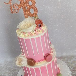 18th Rose Gold Cake
