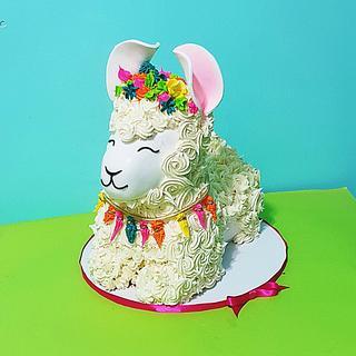 3d Llama cake