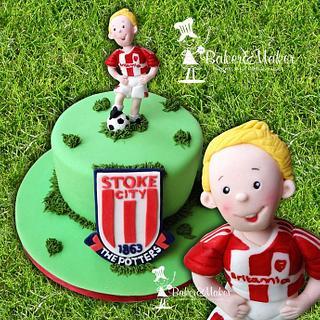 Stoke City Football Cake