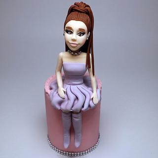 Ariana Grande Figurine.Edible Cake Topper - Cake by becia