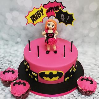Batgirl party cake - Cake by Rachel Roberts