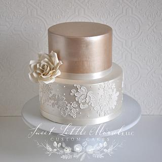 Champagne Luster Wedding Cake
