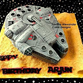 The Millennium Falcon Cake